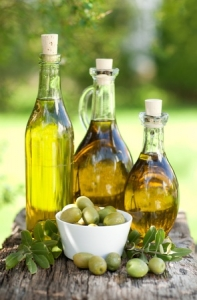 Fresh Olive Oil Bottles